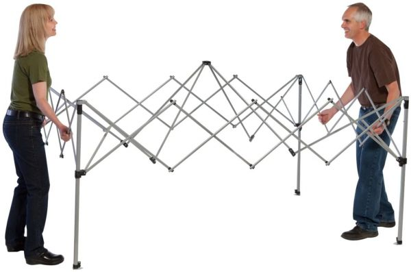 Coleman Instant Canopy setup step 1