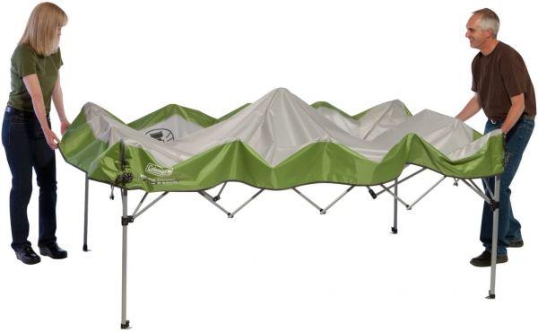 Coleman Instant Canopy setup step 2