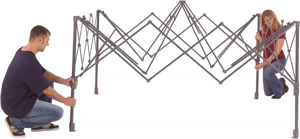 Coleman sun shelter setup step 2
