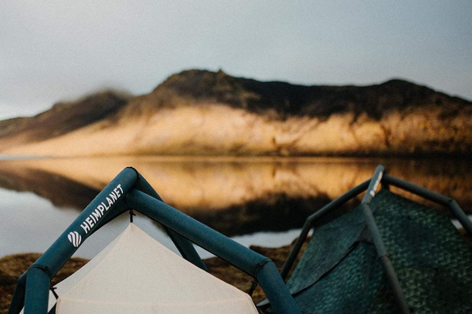 2 heimplanet tents pitched outdoors