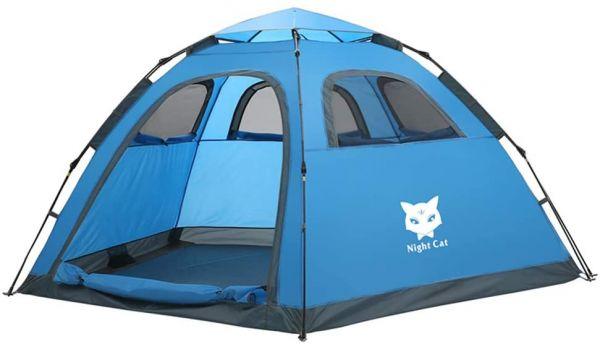 Night Cat Tent blue