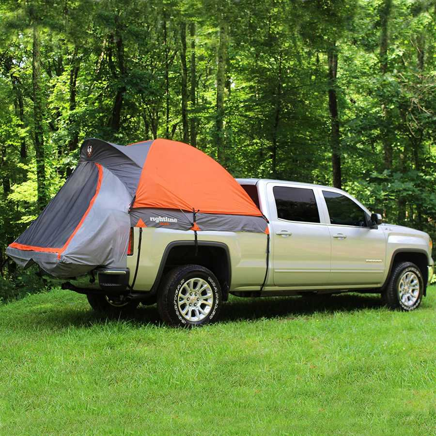 full sized rightline gear truck tent on ford truck