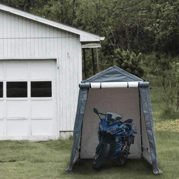 abba patio motorcycle storage shelter