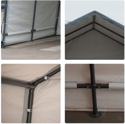 abba patio storage shelter framework