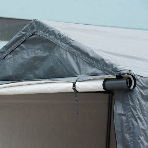 abba patio storage shelter roll up door