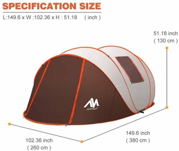 ayamaya tent sizes