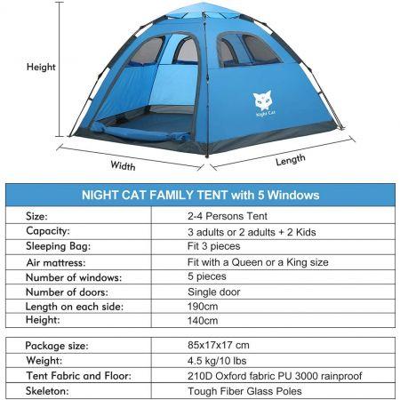 night cat tent details