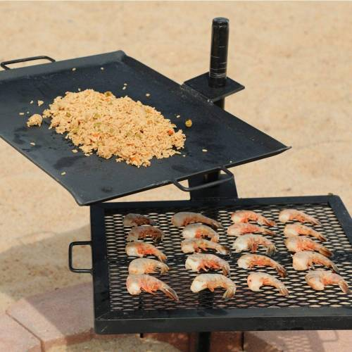 Gravity Grill Open Fire Camping Grill