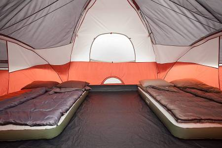 Red Canyon Tent sleeping area