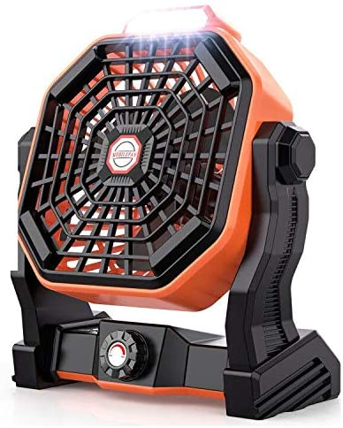 Mifanstech X20 Camping Fan with LED Lights