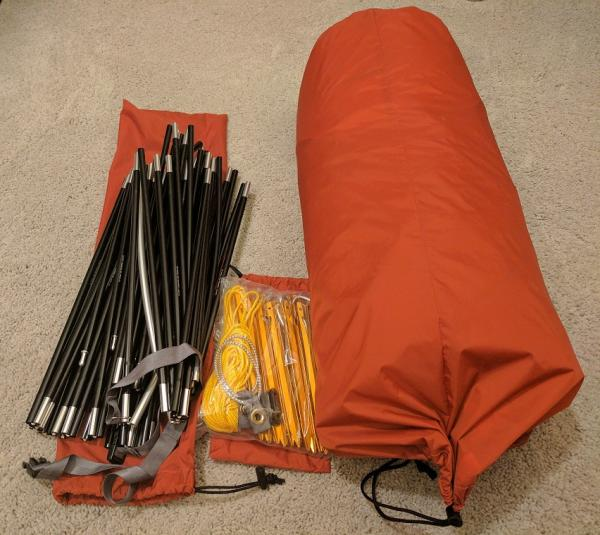 marmot thor tent tent poles and carry bag