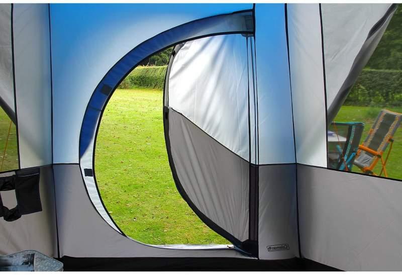 Coleman Octagon tent hinged door
